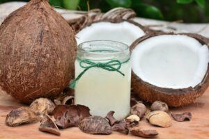 coconut oil- great for scrubs